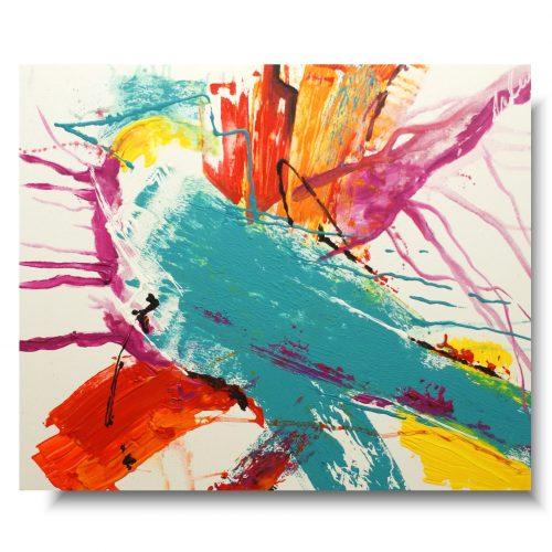 abstrakcja kolorowy zimorodek