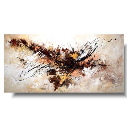 beżowy obraz abstrakcja