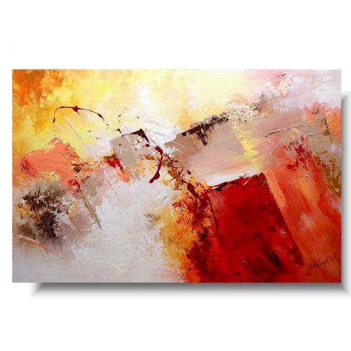 Duża abstrakcja ciepły blask