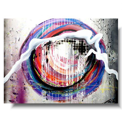 duży obraz abstrakcja kolorowe oko