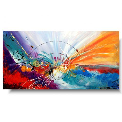 duży obraz kolorowa spirala