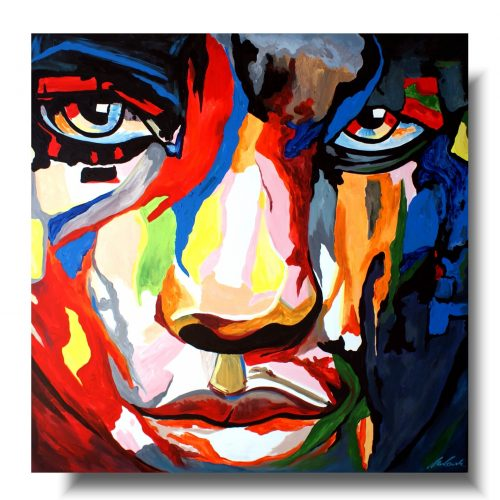 kolorowa abstrakcja portret