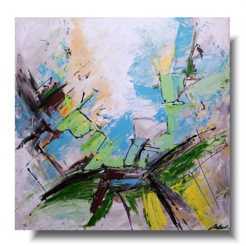kwadratowa duża abstrakcja
