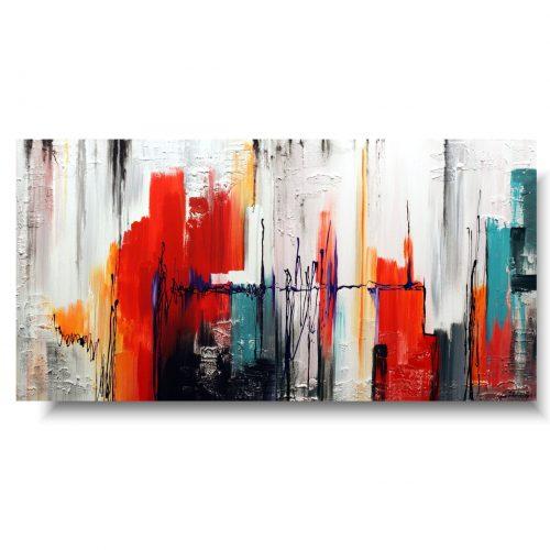 Modny duży obraz kolorowe miasto