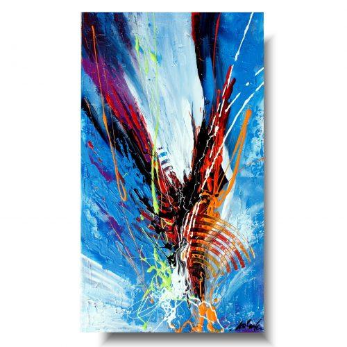 Modny obraz abstrakcja lot ku wolności