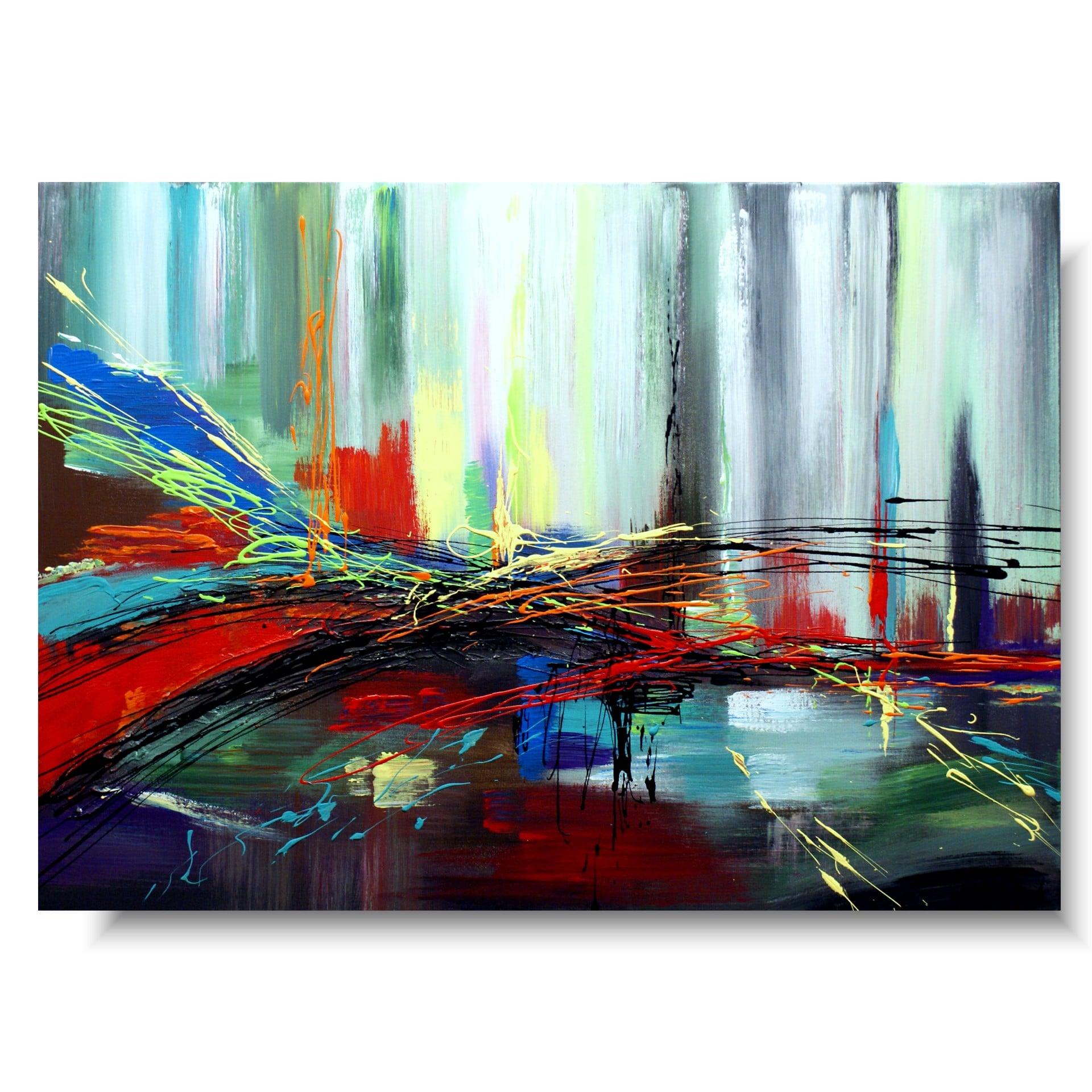 Multikolor abstrakcja nowoczesny obraz