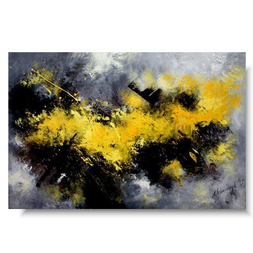 nowoczesne obrazy żółty upał