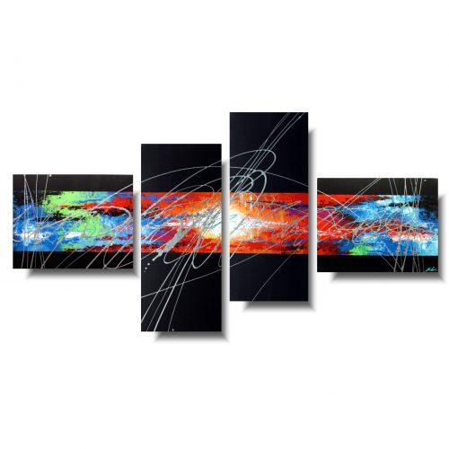 nowoczesne obrazy abstrakcje kolorowy chaos