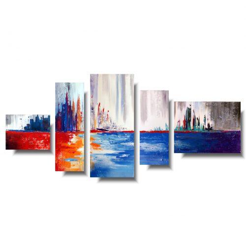 nowoczesne obrazy kolorowe wybrzeże