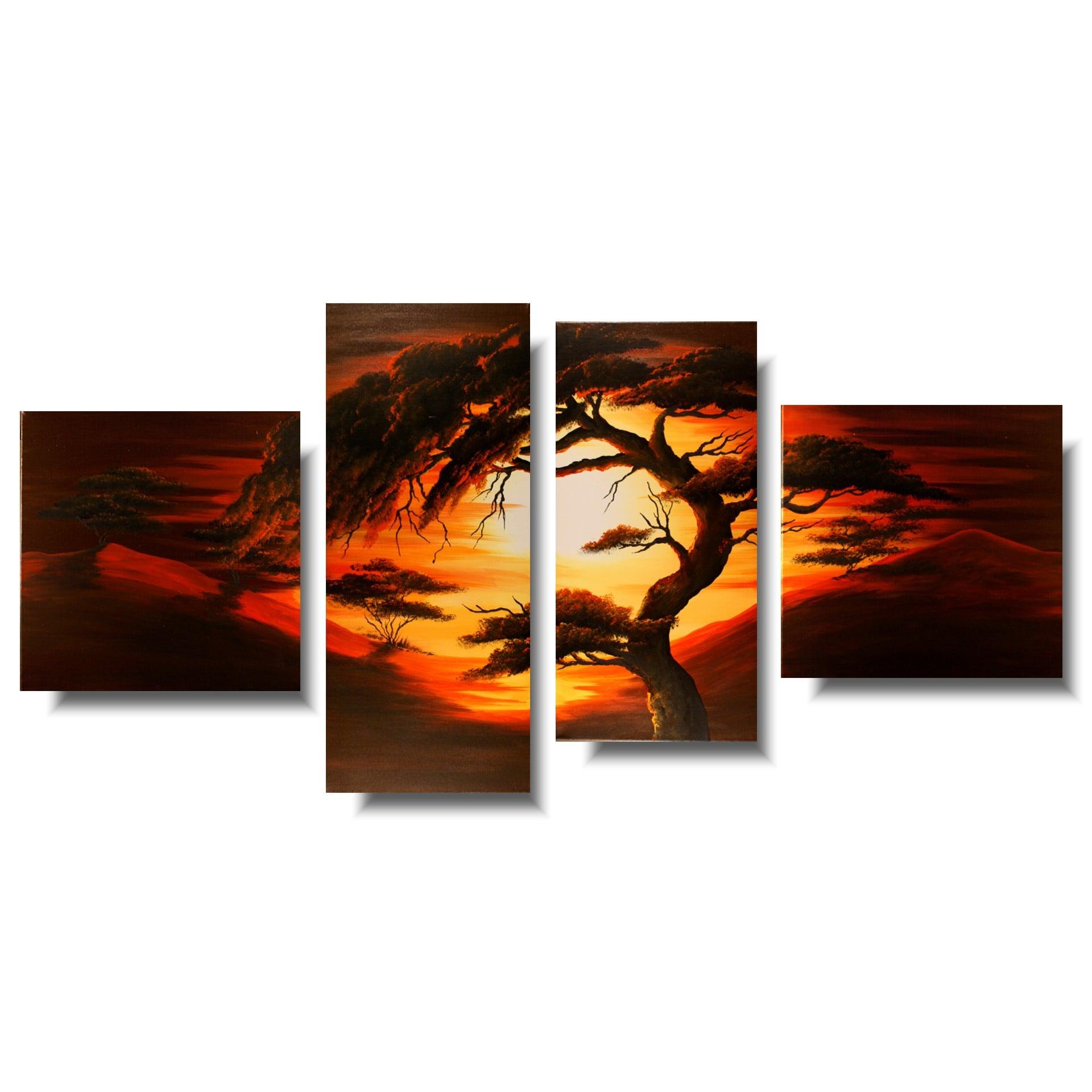 obraz akrylowy z drzewem 80
