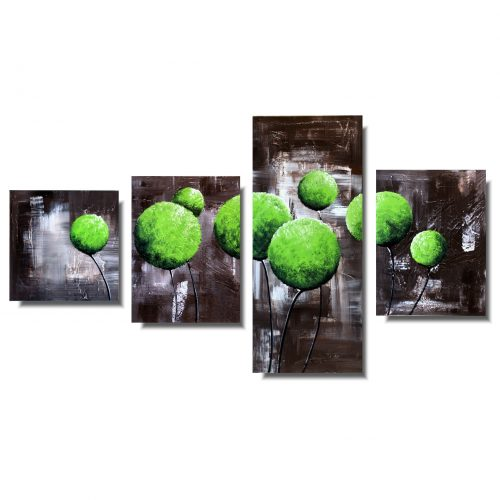 Obraz dmuchawce kwiaty soczyste zielone kule