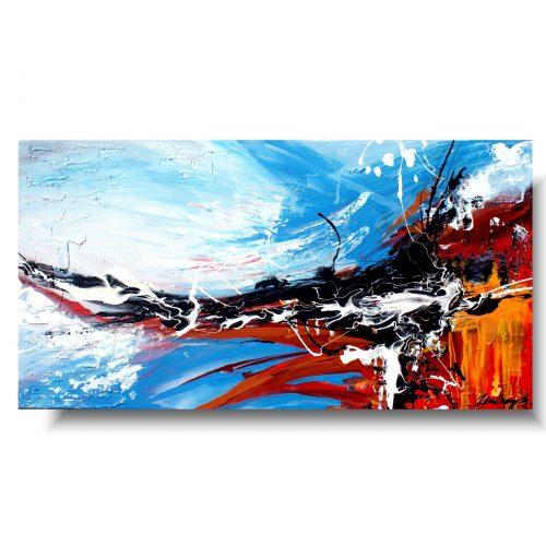 obraz kolorowa abstrakcja fala