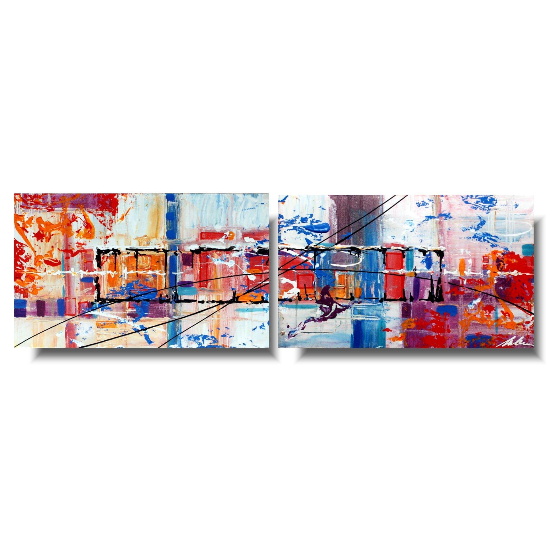 Obraz malowany ręcznie abstrakcja