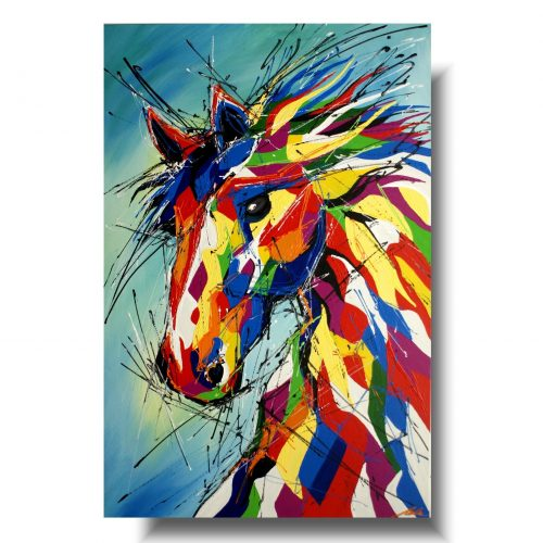 obraz nowoczesny radosny koń