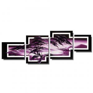 Obraz pejzaż fioletowa Afryka