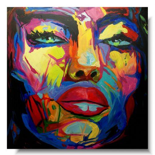 obraz portret kolorowa ponętna kobieta