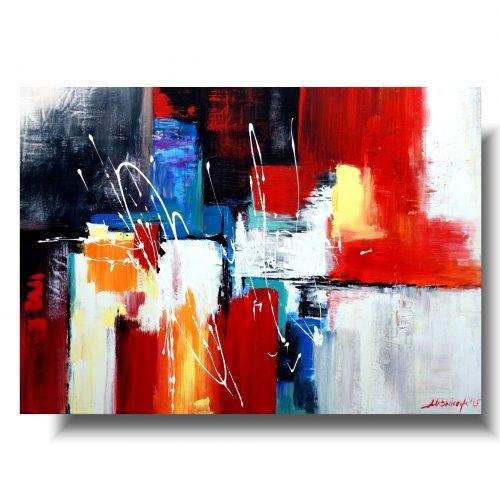 obraz szalona kolorowa abstrakcja