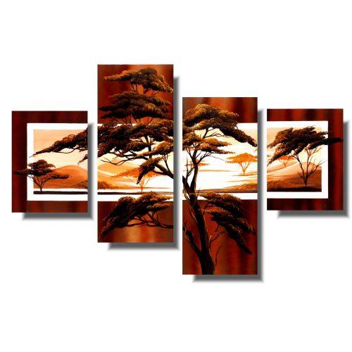 obraz z drzewami