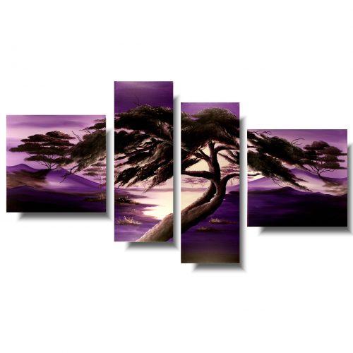 obrazy drzewa fioletowy raj