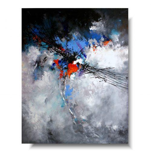Szara abstrakcja burzowe niebo