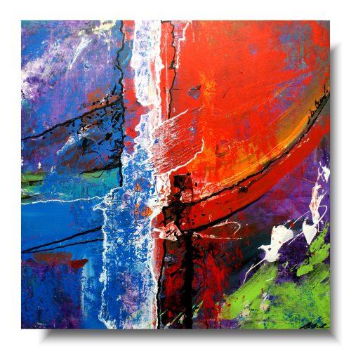Sztuka współczesna kolorowa abstrakcja