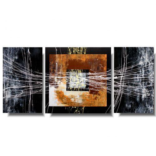 Tryptyk abstrakcja kwadrat
