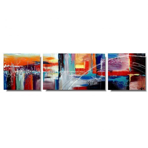 współczesny obraz abstrakcyjny kolorowa przestrzeń