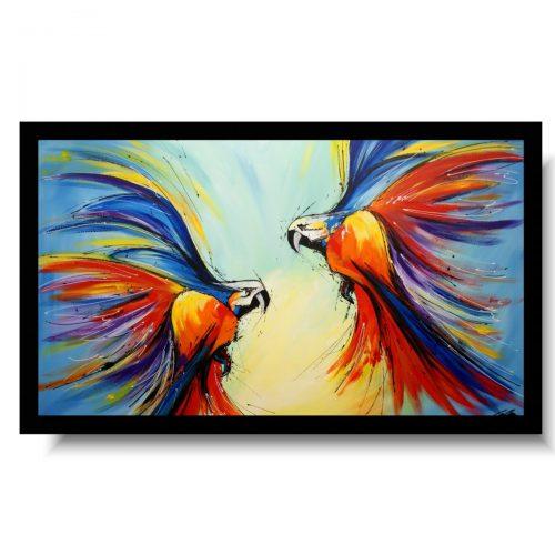 Kolorowe obrazy nowoczesne ze zwierzętami kolorowe papugi obraz akrylowy 1755A