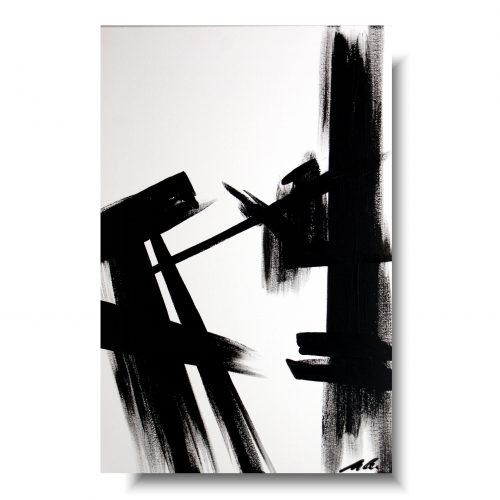 Duży obraz czarno biała abstrakcja