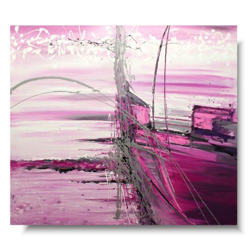 Duży różowy obraz