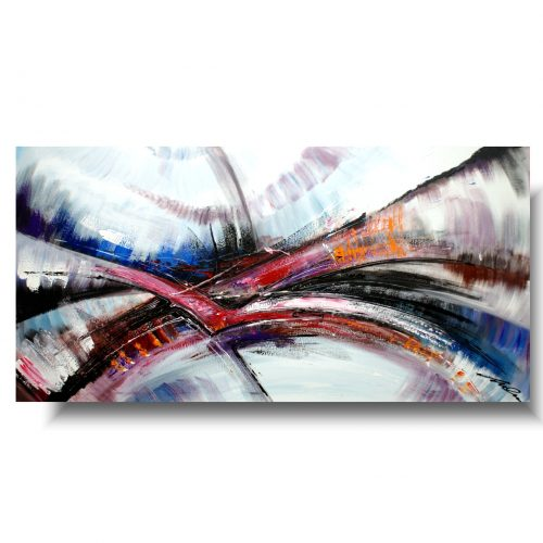 Multikolor obraz abstrakcja delikatne muśnięcia