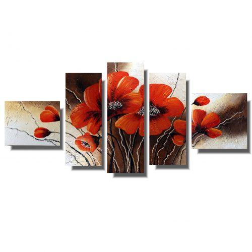 Obraz z kwiatami czerwone romantyczne maki