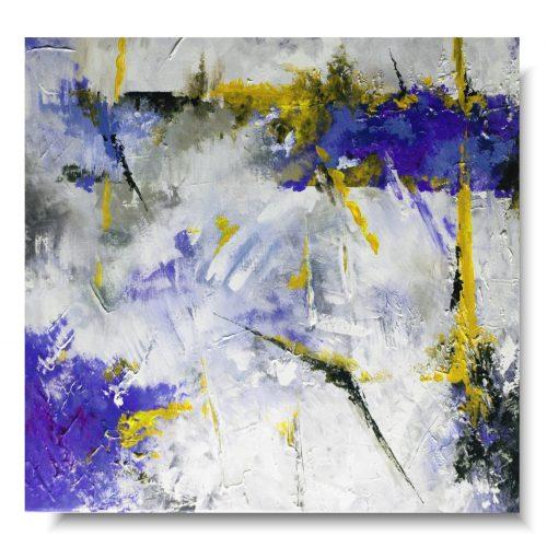 Ogromny obraz abstrakcja chabrowa radość