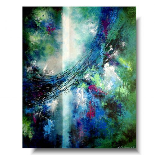 obraz abstrakcja przedwiośnie