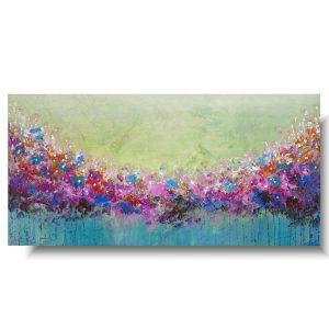 Cudowny obraz z kwiatami wiosenna łąka
