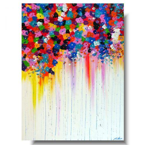 Obraz z kolorowymi kwiatami