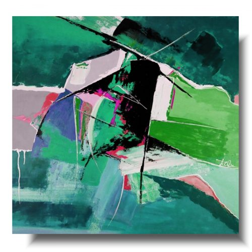 Obraz abstrakcja z lotu ptaka