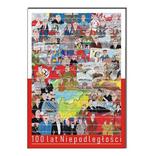 Plakat okolicznościowy 100 lat Niepodległości komiks