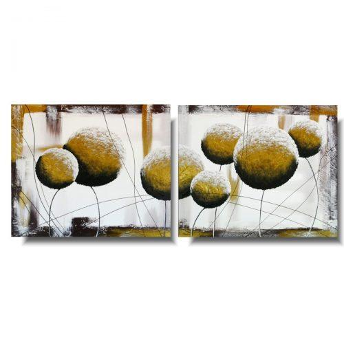 Kwiaty obrazy złote dmuchawce