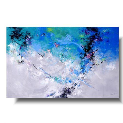 Ogromny obraz abstrakcja w chmurze