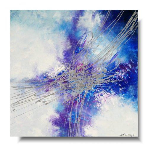 Abstrakcja błękitna łagodność obraz