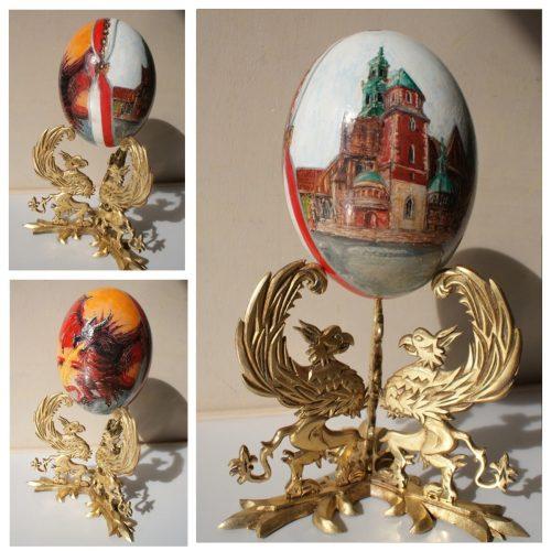 Jajko strusia malowane Kraków