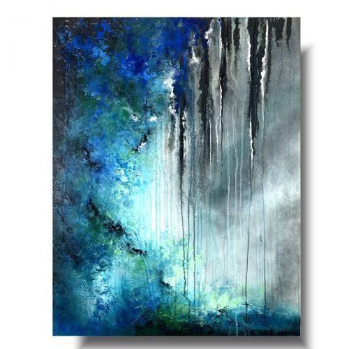 Abstrakcja malowany obraz deszczowy dzień