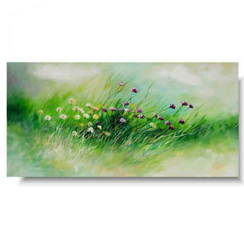 Obraz do salonu kwiaty delikatna łąka