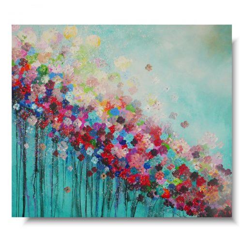 Obraz z kwiatami kolorowa łąka