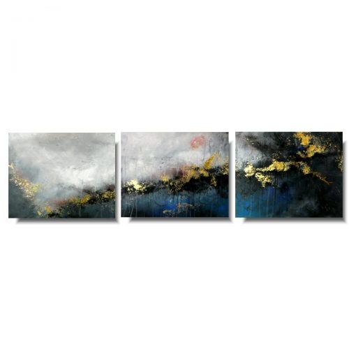 Piękny obraz abstrakcja tryptyk we śnie