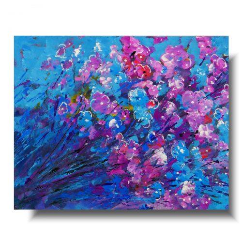 Obraz malowany kwiatowa łąka