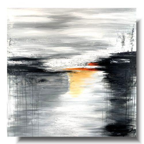 Duża elegancka abstrakcja jasność w szarości 1