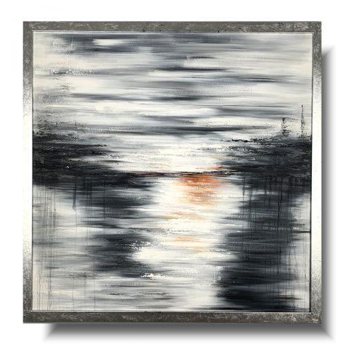 Duża elegancka abstrakcja jasność w szarości