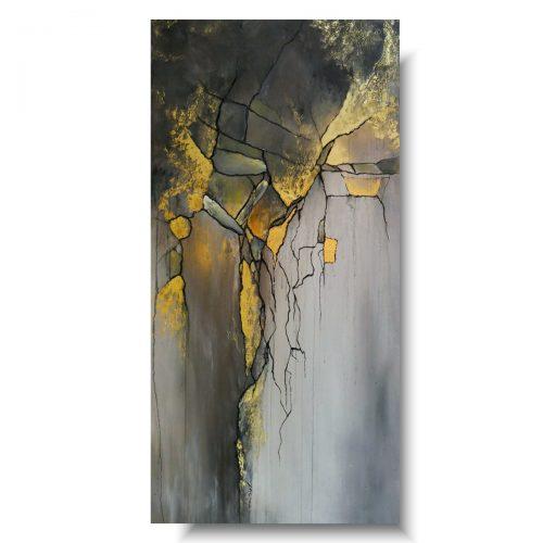 Obraz premium abstrakcja złote rysy